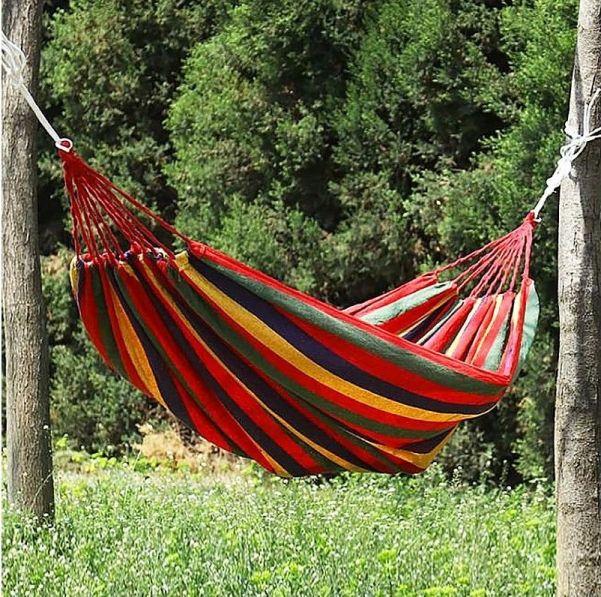 Красный полотняный гамак, 180 см