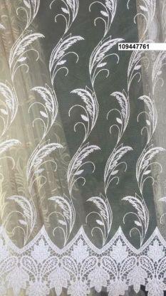 Тюль вышивка на сетке Турция 761
