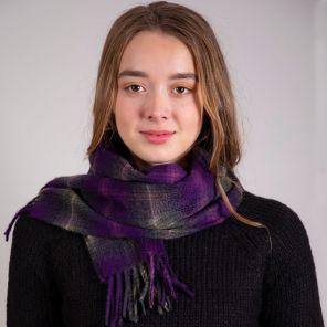 кашемировый шарф (100% драгоценный кашемир) , расцветка Локкэррон Вересковый LOCHCARRON HEATHER, плотность 7