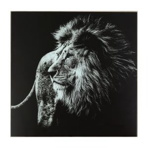 "Картина ""Чёрно-белый лев"" 50*50 см   3663771"