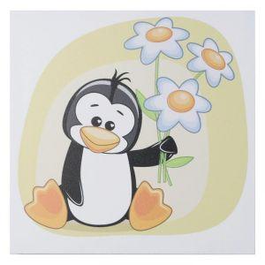 "Картина ""Пингвин с ромашками"" 35х35 см 5181062"