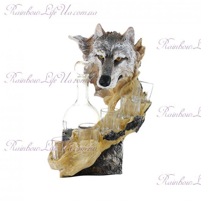 """Штоф """"Волк"""" с графином и рюмками"""