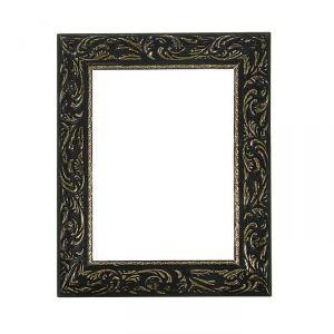 Рама для зеркал и картин, дерево, 18 х 24 х 4 см, «Версаль», цвет чёрный с золотом