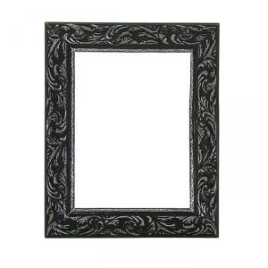Рама для зеркал и картин, дерево, 18 х 24 х 4 см, «Версаль», цвет чёрный с серебром