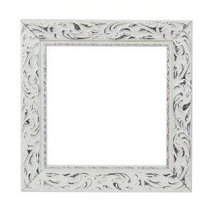 Рама для зеркал и картин, дерево, 20 х 20 х 4.0 см, «Версаль», цвет бело-серебристый