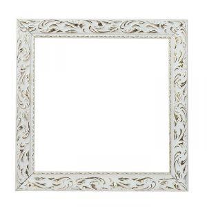Рама для зеркал и картин, дерево, 30 х 30 х 4 см, «Версаль», цвет бело-золотой