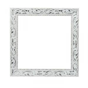 Рама для зеркал и картин, дерево, 30 х 30 х 4 см, «Версаль», цвет бело-серебристый