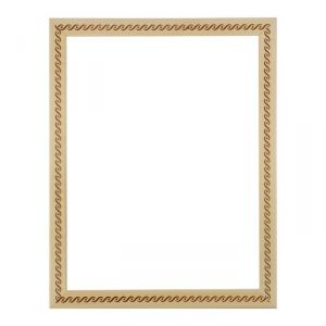 Рама для зеркал и картин, дерево, 30 х 40 х 3.0 см, липа, «Косичка», горячее тиснение