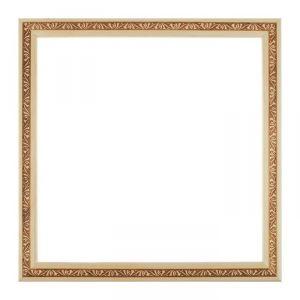 Рама для зеркал и картин, дерево, 35 х 35 х 3.0 см, липа, «Лепесток», горячее тиснение