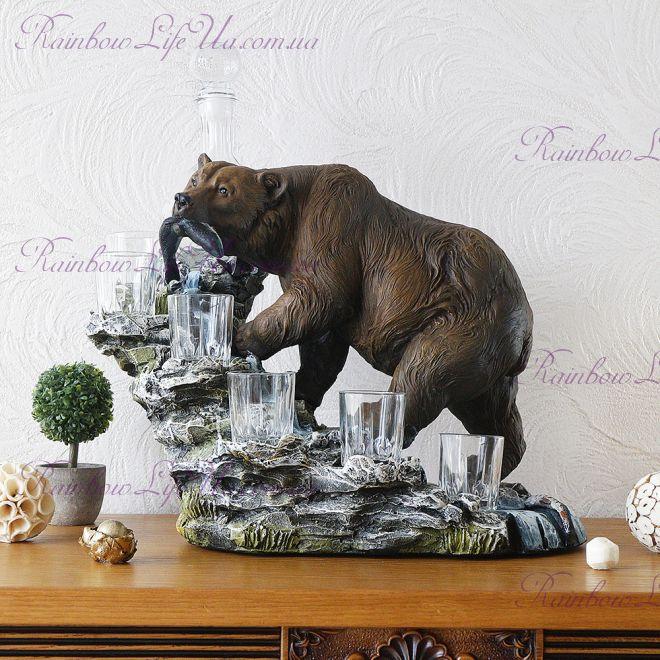 """Штоф """"Медведь"""" с графином и рюмками"""
