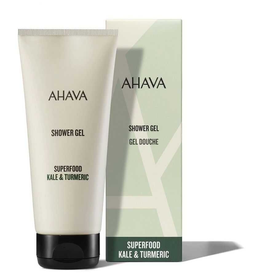Ahava SUPERFOOD Гель для душа браунколь и куркума 200 мл