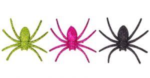 Набор пауков с блесками (6 шт, 8 см)