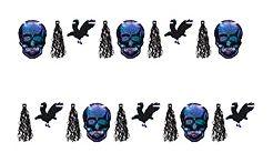 Гирлянда с черепами и воронами (3 м)