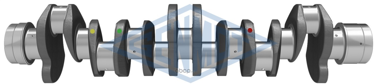 Вал коленчатый (коленвал) усиленный (ковка) 6HK1 Isuzu FORWARD FRR34 FRR34S2 FRR32 FSR90 CYZ51 FVR34