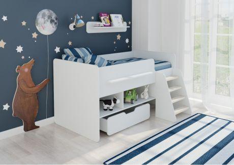 Детская кровать Легенда 6 белая
