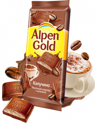 Шоколад Alpen Gold капучино 90г