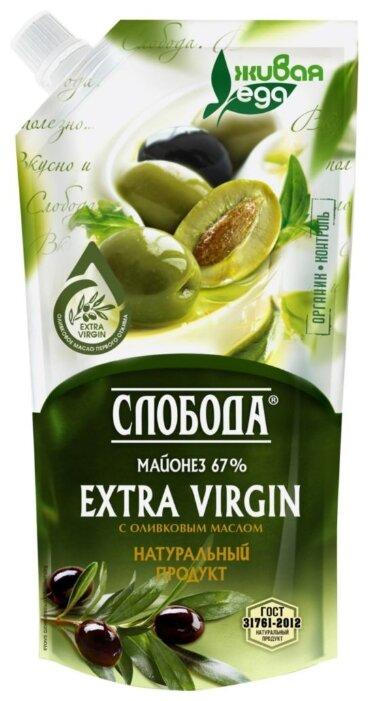 Майонез Слобода Оливковый Extra Virgin 67% 480мл д/п