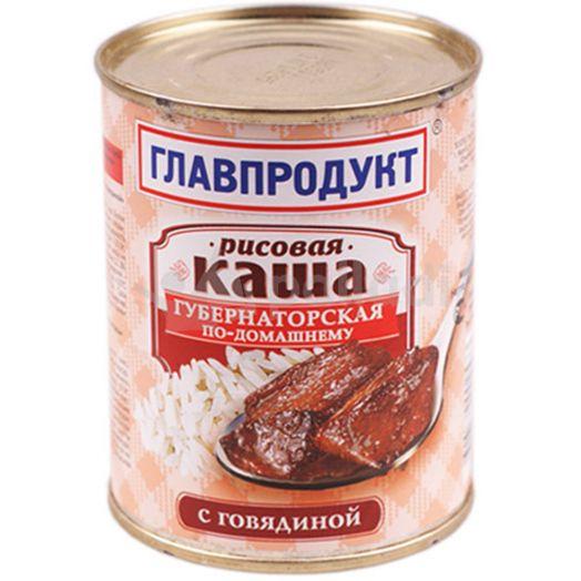 Каша Главпродукт 340г рис. с говяд. ж/б