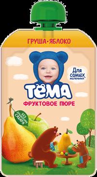 Пюре Тёма 90г Груша/яблоко д/п