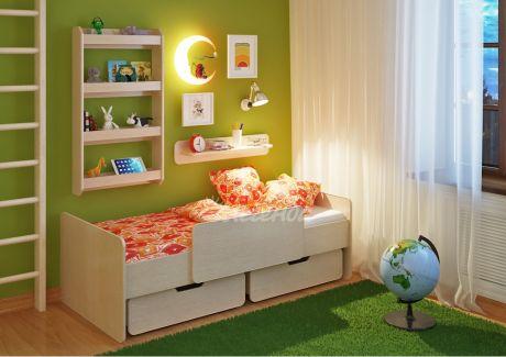Детская кровать Легенда 14.1 с полками
