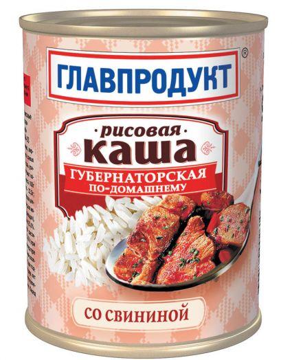 Каша Главпродукт 340г рис. со свин. ж/б