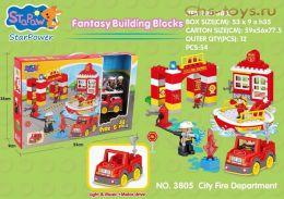Конструктор StaPaw Пожарная часть с героями 3805 (Аналог LEGO DUPLO) 54 дет