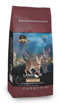ЛАНДОР для кошек СТЕРИЛАЙЗД утка с рисом (LANDOR STERILIZED & LIGHT)