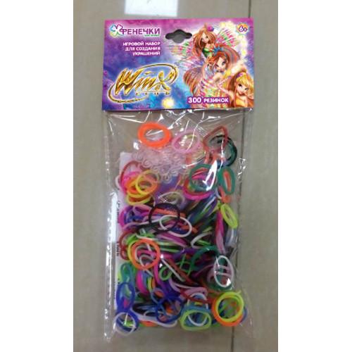 1toy Набор для плетения Winx, 300 резиночек