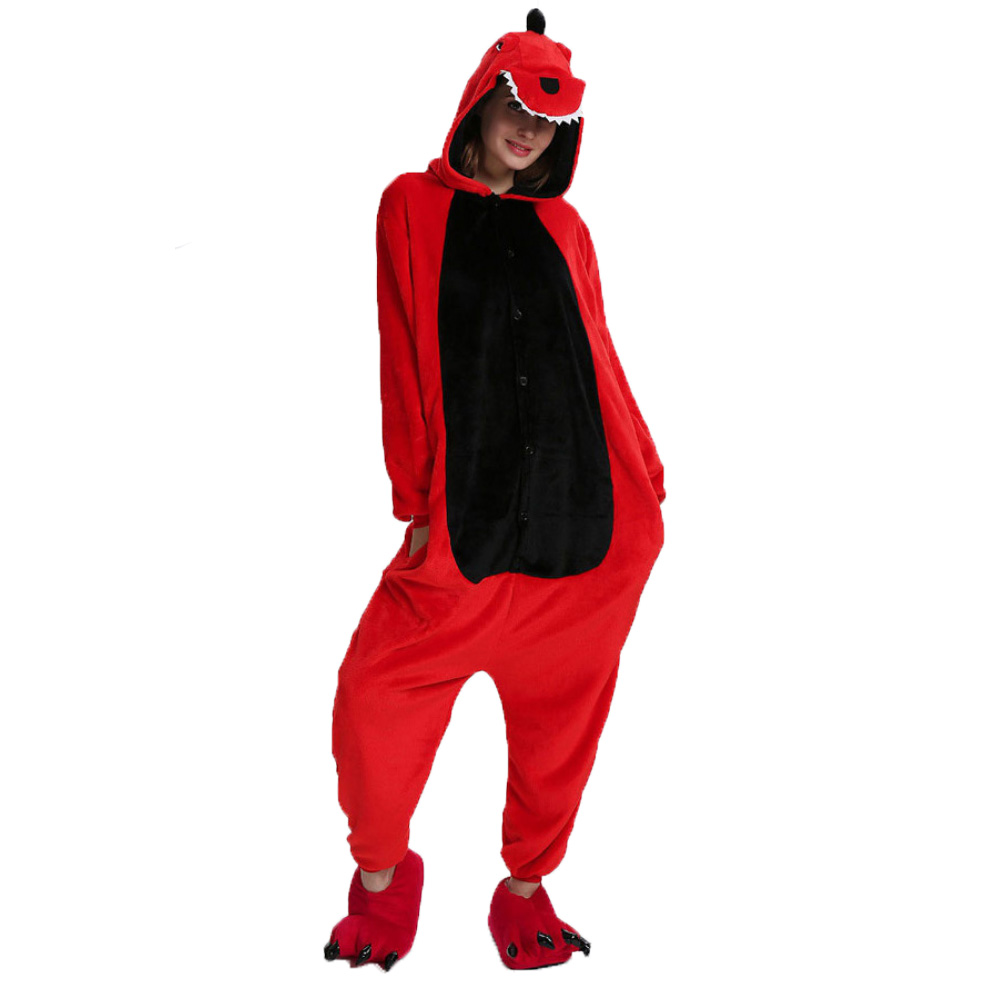 Пижама Кигуруми Динозавр Красный