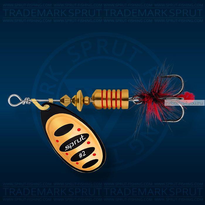 Блесна вращающаяся Sprut Alba Spinner №2 / 5,5 гр / цвет: BKC