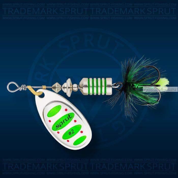 Блесна вращающаяся Sprut Alba Spinner №2 / 5,5 гр / цвет: SGR