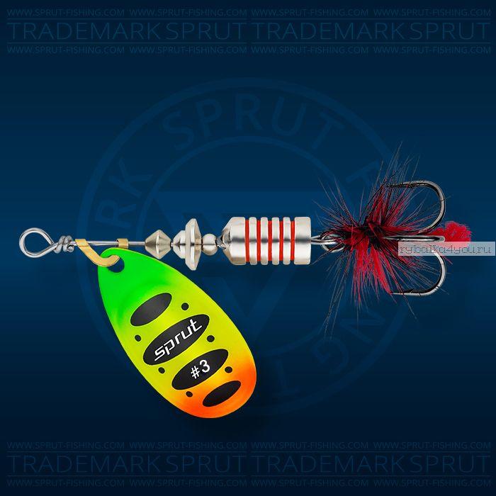 Блесна вращающаяся Sprut Alba Spinner №3 / 7 гр / цвет: FTL