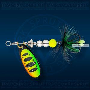 Блесна вращающаяся Sprut Caspia Spinner №2 / 4,5 гр / цвет: FT