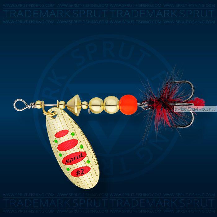 Блесна вращающаяся Sprut Caspia Spinner №2 / 4,5 гр / цвет: GR