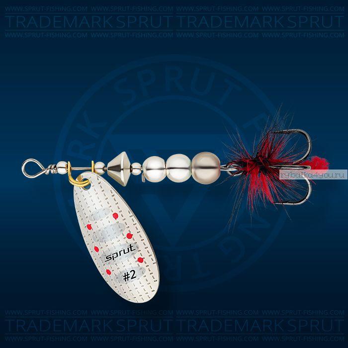Блесна вращающаяся Sprut Caspia Spinner №2 / 4,5 гр / цвет: S