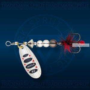 Блесна вращающаяся Sprut Caspia Spinner №2 / 4,5 гр / цвет: SBK