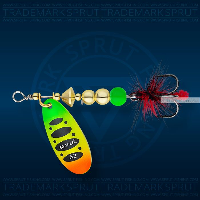 Блесна вращающаяся Sprut Caspia Spinner №3 / 7 гр / цвет: FTL