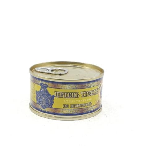 Печень трески по-приморски ГОСТ 125г Рыбная держава