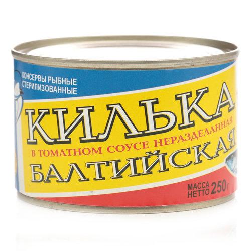 Килька в томатном соусе (ключ) 250г Русский рыбный мир