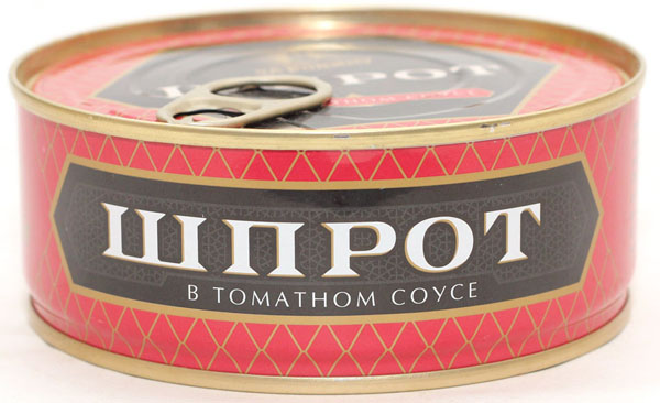 Шпроты в томатном соусе ж/б 240г За Родину
