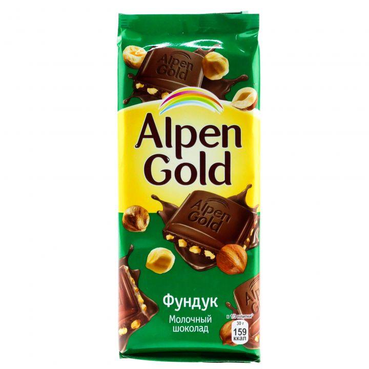 Шоколад Alpen Gold молоч/орех 90г