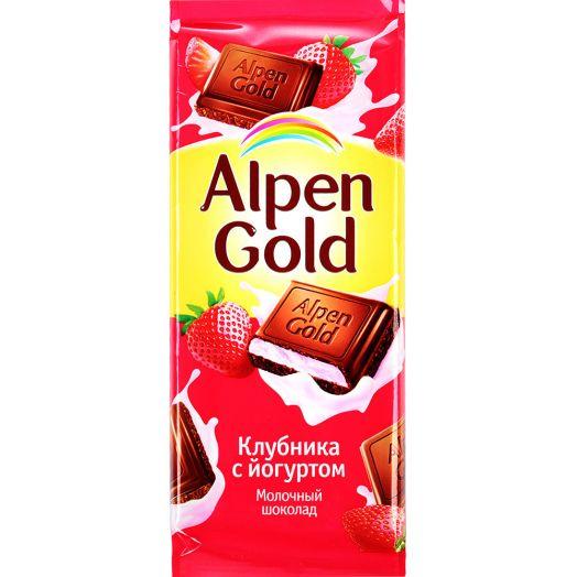 Шоколад Alpen Gold клубника с йогуртом 90г