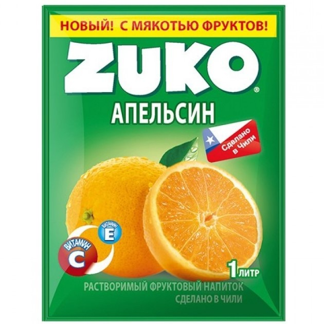 Напиток Zuko 25г апельсин