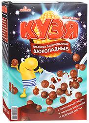 Завтрак Шарики мультизерновые глазированные 215г Кузя Лакомкин