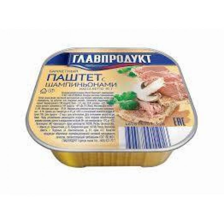 Паштет Главпродукт 95г Банкетный с шамп. ж/б