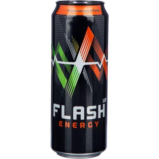 Напиток энергетический Флэш Апельсинвый ритм 0,44 ж/б Балтика