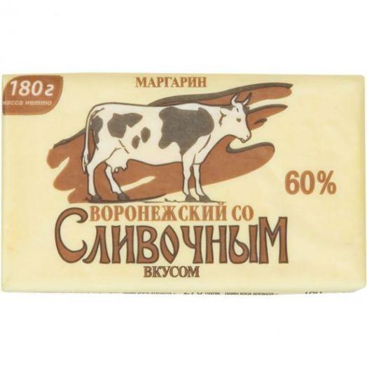 Маргарин Добавкин Воронежский со слив вкусом 60%180г Саратов