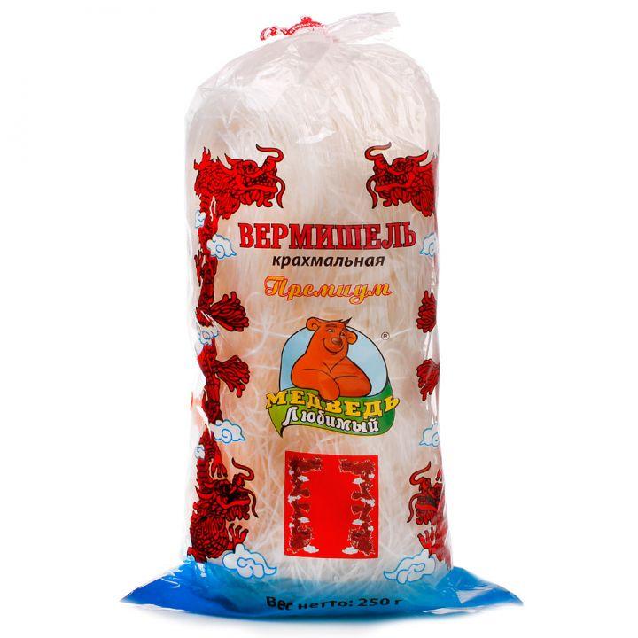 Вермишель Медведь Любимый фунчоза крахмальная 250г