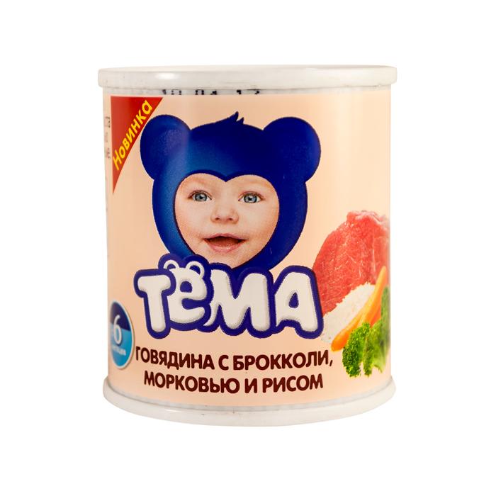 Пюре Тёма 100г Гов/брок/морк/рис ж/б