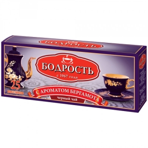 Чай Бодрость с бергамотом  с/я 25пак*2г